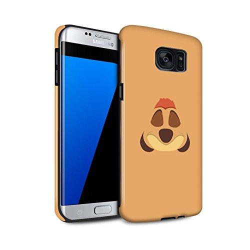 Stuff4 Phone Case/Cover/Skin/SG 3dtbg/cartone animato African Animals Collection Timone Inspiriert Samsung Galaxy S7 Edge/G935