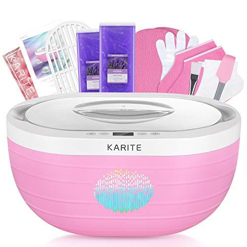 KARITE Paraffin Wax Machine for Hand and Feet, Fast Wax Meltdown Paraffin Bath, 3000ml Large Capacity Paraffin Wax Warmer with 2lb Paraffin Wax Refills & Thermal Mitts for SPA & Arthritis Treatment