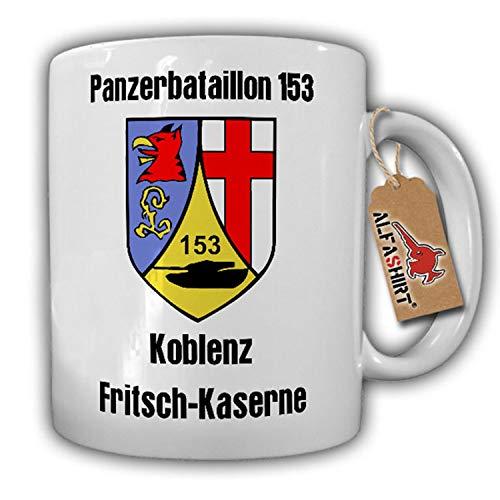 Tasse PzBtl 153 BW Panzerbataillon Koblenz Fritsch Kaserne Wappen #17859