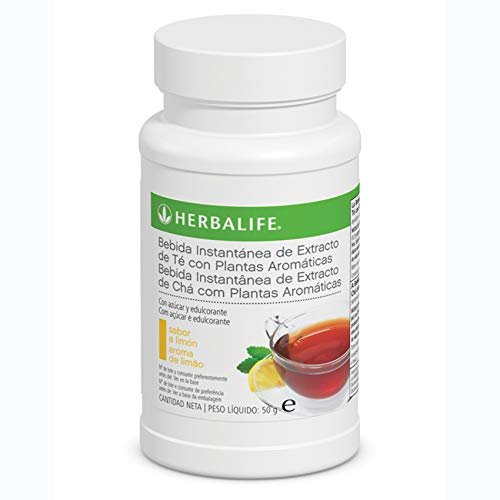 Bebida Instantánea a base de extracto de Té Herbalife con té negro, verde, flor de malva, flor de hibisco y semilla de cardamomo.… (Té Limón 50g)