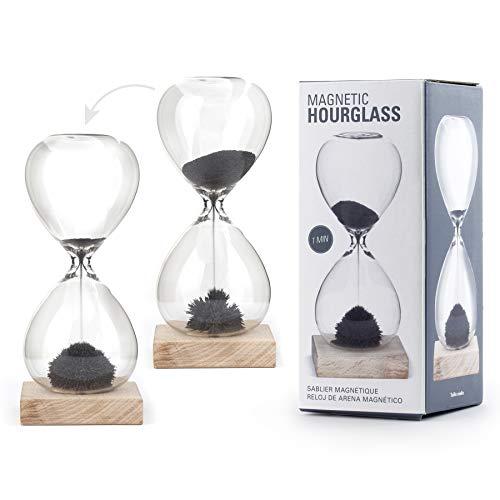 Preis am Stiel Stundenglas ''Magnetischer Sand'' | Sanduhr | Uhr | Timer | Wohnaccessoire | Geschenk | Geschenkidee für Freunde | Glas Dekoration | Büro | Wohnzimmer | Zeitmesser | Stundenglas