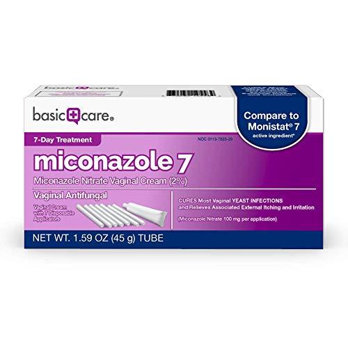 Amazon Basic Care Miconazole 7, Miconazole Nitrate Vaginal Cream (2 percent), Vaginal Antifungal, 7-Day Treatment