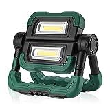 BONADE LED Akku Baustrahler, Faltbares LED Scheinwerfer mit 360°Drehung, 3 Lichtmodus, 5000mAh...