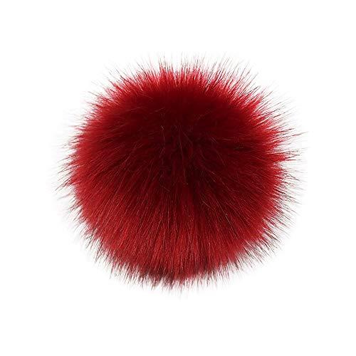 Y56 DIY Pompon Kunstfell Faux Kunstpelz Pom Pom Ball Kunstfellbommel für Stricken Hüte Zubehör Bommelmütze Schlüsselanhänger Bommel mit Anstecknadel Pelzbommel Fellbommel Pompon (H)