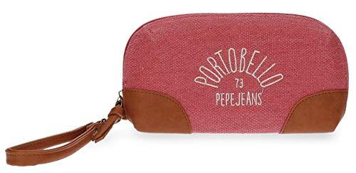 Pepe Jeans Porto Bolso de Mano Rojo 20x11x4 cms Poliéster