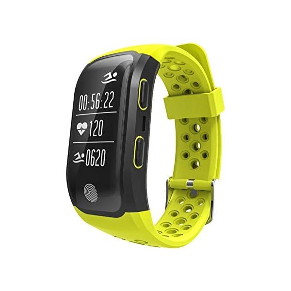 Rungao Pulsera Smart inteligente con sensor de ritmo cardíaco, GPS, monitor de sueño, podómetro, resistente al agua… 1