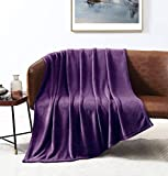 Love's cabin Flannel Fleece Blanket Throw Size Purple Throw Blanket for Couch, Extra Soft Double Side Fuzzy Plush Fall Blanket, Fluffy Cozy Blanket for Adults Kids or Pet (Lightweight,Non Shedding)