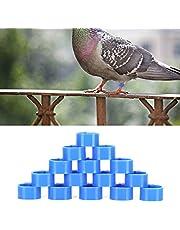 Pierścień na gołębie 10 mm, pierścień na stopę drobiu łatwo zidentyfikować, czy Twoje gołębie są z gołębiami sąsiadów odporny na zużycie i trwały dla gołęb na zewnątrz (niebieski)