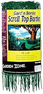 Garden Zone 331420 Scroll Top Rolled Garden Border, 14