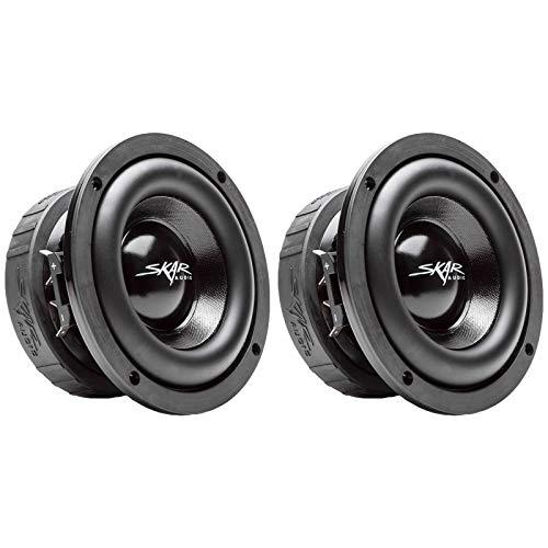 (2) Skar Audio EVL-65 D4 6.5' 400 Watt Max Power Dual 4 Ohm Car Subwoofers, Pair of 2, BNDLE-EVL-65D4x2