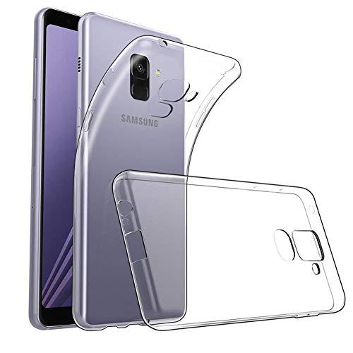 Amonke Handyhülle für Samsung Galaxy A8 2018 - Flexible Samsung Galaxy A8 2018 Hülle Silikon Transparent, Ultra Klar TPU Hülle Cover Durchsichtige Handytasche Schutzhülle für Samsung Galaxy A8 2018
