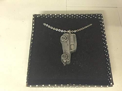 Land Rover Defender 3D pendente della collana placcata argento platino a mano 45,7cm REF115