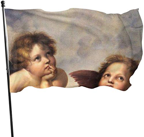 Oaqueen Flagge/Fahne, Two Angels Flag: 3x5 FT Flag Tough The Strongest, Longest Lasting Flag National Flag Outdoor Flags