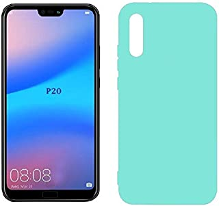 Case Matte flexible plastic Mobile protection, Cover for Huawei P20 (Turquoise)