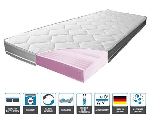 ARBD Matratzenauflage - Topper | Modelle mit 7-12cm Gesamthöhe | waschbarer Bezug mit 3D-Mesh-Klimaband (H3 Rave XXL - 12cm, 140 x 200 cm)