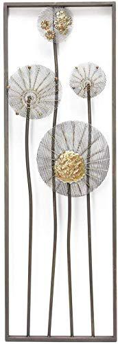 khevga Decoración de pared para salón o pared con flores en 3D, 90 x 30 cm