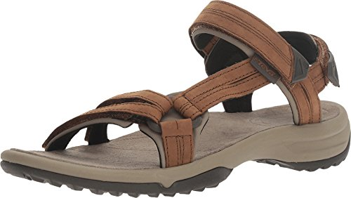 Teva Terra Fi Lite Leather W's Damen Sport- & Outdoor Sandalen, Braun (brown 556), EU 41