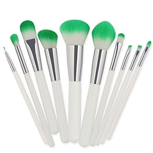 GONGFF Kit de Pinceau de Maquillage en Bois Multifonctionnel pinceaux de Maquillage cosmétiques Set Fondation Poudre de Fard à paupières