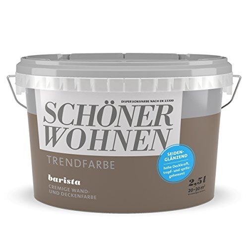 Schöner Wohnen Trendfarbe Barista 2,5 l seidenglänzend