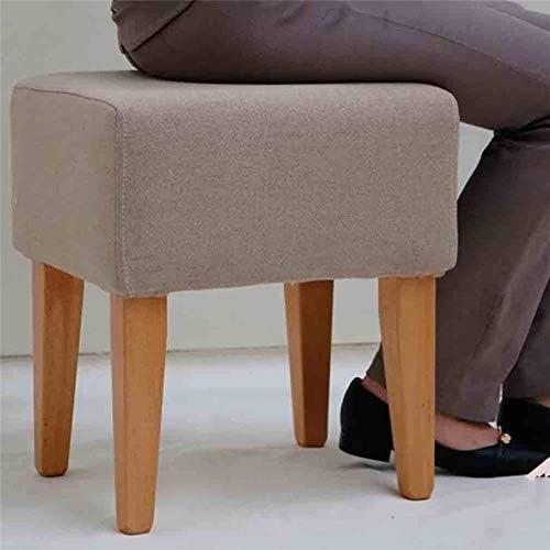 Repose-pieds, en lin Rechercher rembourré Repose-pieds Banc de chaussures amovible et lavable Cover 114 114 (Size : 12)