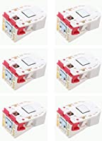 耐震ラッチ 開き扉用 取り付け治具・ビス入り 白色 (6個セット)