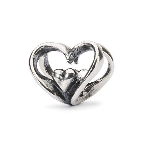 Trollbeads Silber Bead Herz an Herz