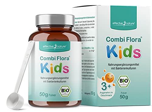 Effective nature Bio Combi Flora Kids in polvere - 50g - Per sostenere la flora intestinale nei bambini - Molto facile da prendere