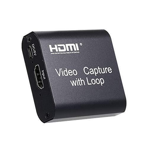 Placa de captura HD para U Staright SB com saída de loop Placa de captura de videoconferência Caixa de conversão de webcast HD switch game transmissão ao vivo gravação OBS placa de captura de vídeo USB 2.0