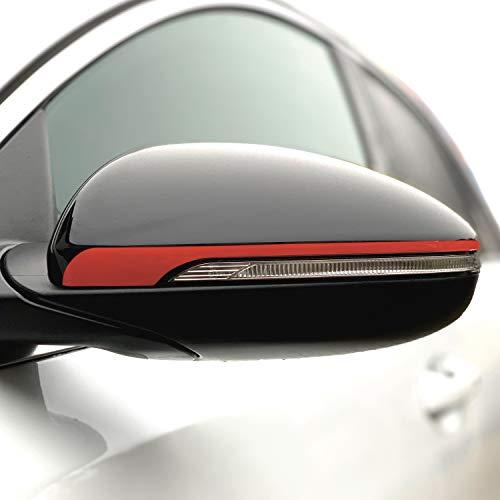 P057 Seitenstreifen Spiegel   Auto   Spiegelaufkleber   Aufkleber   Streifen   Oracal 751C (Blutrot, Variante 1)