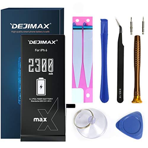 DEJIMAX 2300mAh Akku für iPhone 6, 2300mAh Batterie Wechsel Hochleistungs Li-Ionen Ersatzakku mit Werkzeugsatz und Reparatursatz