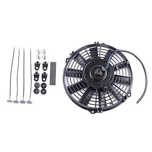 ECCPP 8'inch Push Pull Slim Electric Radiator Cooling Fan Mount Kit Universal Plastic Black