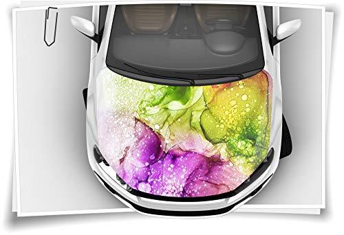 Medianlux Motorhaube Auto-Aufkleber Öl Lava Farben Wasser Abstrakt Kunst Bunt Steinschlag-Schutz-Folie Airbrush Tuning Car-Wrapping Luftkanalfolie Digitaldruck Folierung