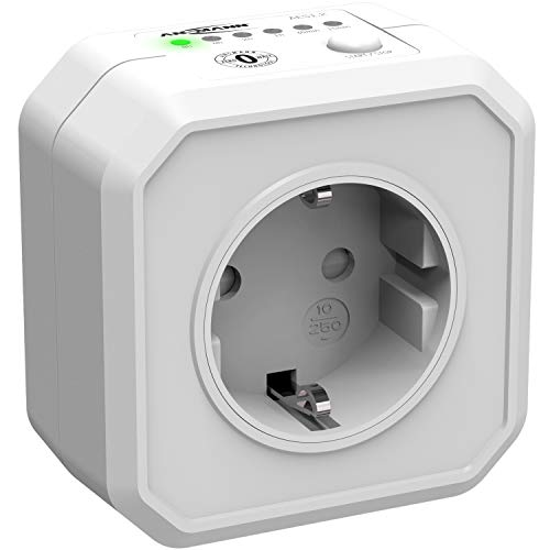 ANSMANN Timer Steckdose AES1 , Schaltbare Energiespar-Steckdose mit Countdown Timer für Heizlüfter, Bügeleisen, Kaffeemaschine, Waschmaschine usw. (Zeitintervall per Schalter wählbar) - Weiß