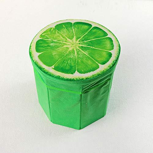 Fruit Storage Kruk Velvet achthoekige Ronde Kruk kan worden gevouwen en niet vervagen,Brown