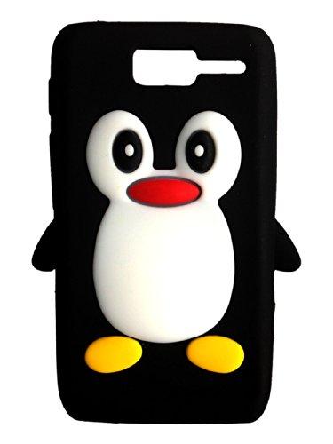 SKS Distribution® schwarz Motorola RAZR D1 XT916 XT918 Pinguin niedlichen Tier Silikonhülle Shell Beschützer Handy Smartphone Zubehör