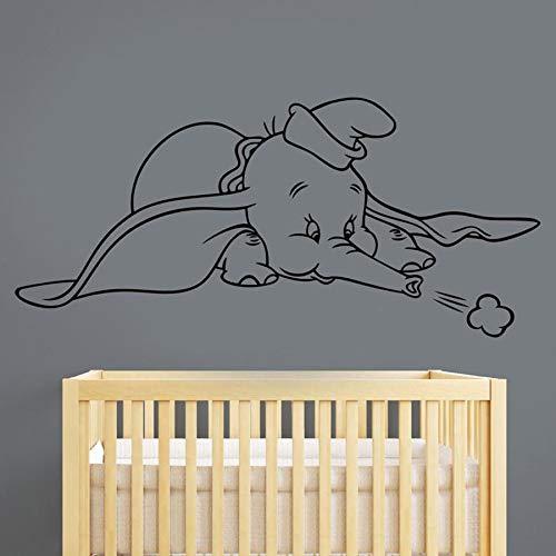 HGFDHG Dumbo Pegatinas de Pared calcomanías de Vinilo Lindos Animales de Dibujos Animados Artista Suministros de decoración del hogar bebé habitación de niños decoración de guardería