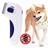 MG SALESS Lice Remover Flea Comb for Dogs and Cats–Electric Flea and Tick