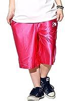 SHOOWTIME(ショウタイム)ダンス ハーフパンツ ショッキングピンク/L メンズ レディース キッズ バスパン 小ロゴ オリジナル (STDT021)