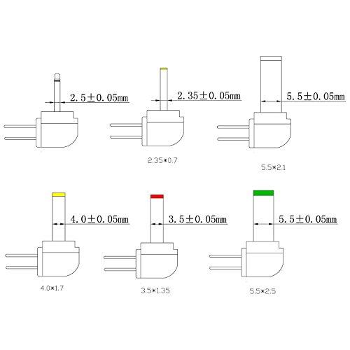 Poppstar Universal Schaltnetzteil (4,5V 5V 6V 7,5V 9V 10 V 12V - 2A (2000mA) Netzteil mit 6 Wechselsteckern und LED, 150cm