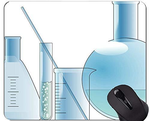 Wiedergabe 3D von Biochemie mit DNA-Mausunterlagen, Glasmausunterlage mit genähtem Rand