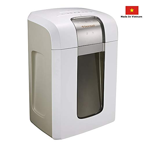 Bonsaii 240-Minute Heavy-Duty Micro-Cut Paper Shredder, P-6 High-Security (1/26 by 5/21 inches) with Destroying CD/Credit Cards, 5-Sheet Shredding Capacity, White (5S30)
