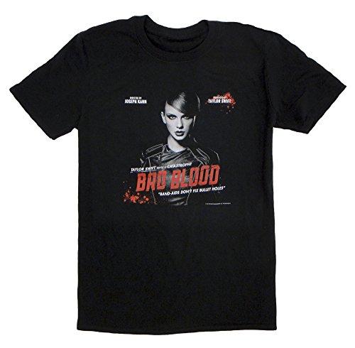Taylor Swift 1989 Bad Blood Video Tee Black Unisex T-shirt (Small)