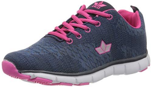 Lico Linda, Chaussures de Marche Nordique Femme, Bleu (Marine Blau Pink Marine Blau Pink), 40 EU