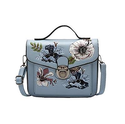 Meceo Femmes Vintage Cuir PU Sac Besace Élégant Fille Loisirs Handbag Antivol Sac Cabas Multi-Fonction Shoulder Bags