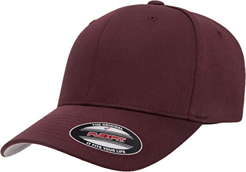 Flexfit 6277 Wooly Combed Twill Cap Maroon
