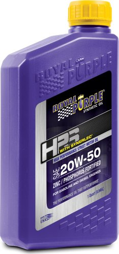 Royal Purple 36250-6PK HPS 20W-50 Synthetic Motor Oil with Synerlec Additive Technology - 1 qt. (Case of 6)