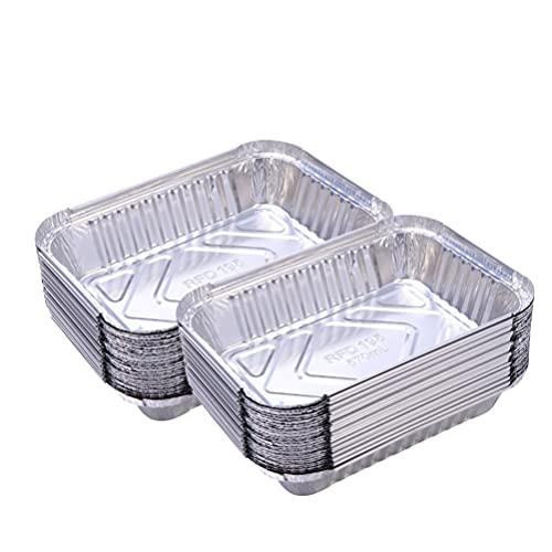 Holibanna 60Pcs Aluminium Folie Pie Pfannen Backen Pfannen Zinn Pfannen für Ofen Toaster Grill Kochen Rösten Broiling Ereignis Nehmen Restaurant