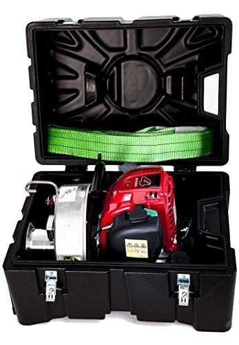 Portable Winch PCW3000 Gas-Powered Capstan Pulling Winch with PCA-0102 Transport Case (Bundle, 2 Items)
