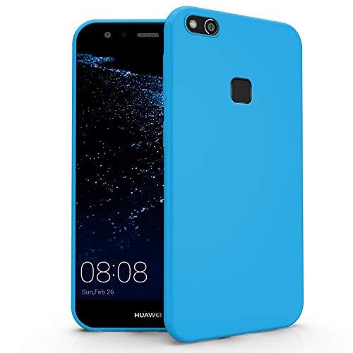 N NEWTOP Cover Compatibile per Huawei P10 Lite, Custodia TPU Soft Gel Silicone Ultra Slim Sottile Flessibile Case Posteriore Protettiva (Azzurro Newtop)
