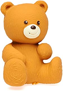 Lanco Brown Bear - Eco-Friendly Baby Play Toy, BPA Free 100% Natural Rubber, Safe Sensory Fun for Infants and Newborns